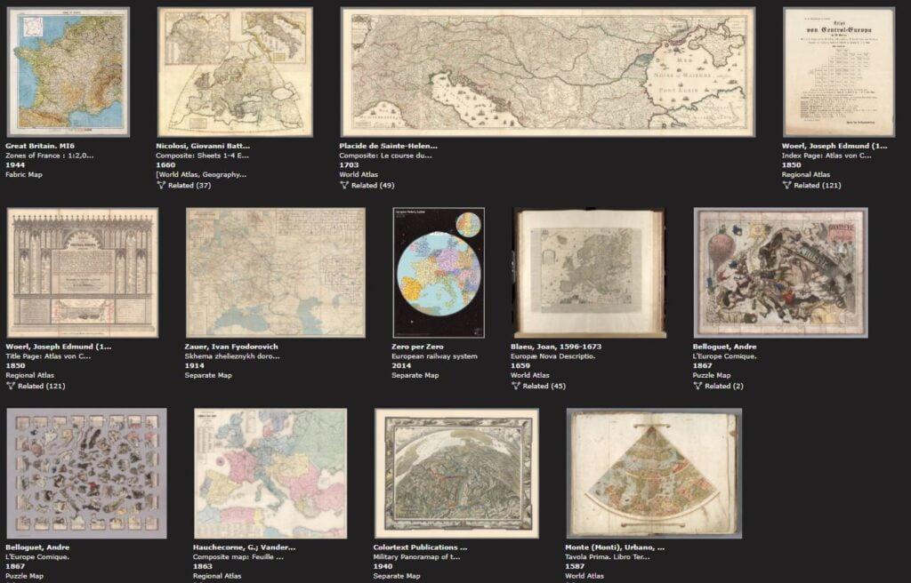 david rumsey collection cartes