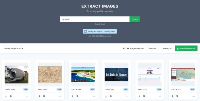 extract images byothe