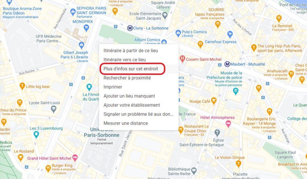 google maps coordonnees web
