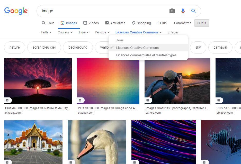 recherche image google gratuite
