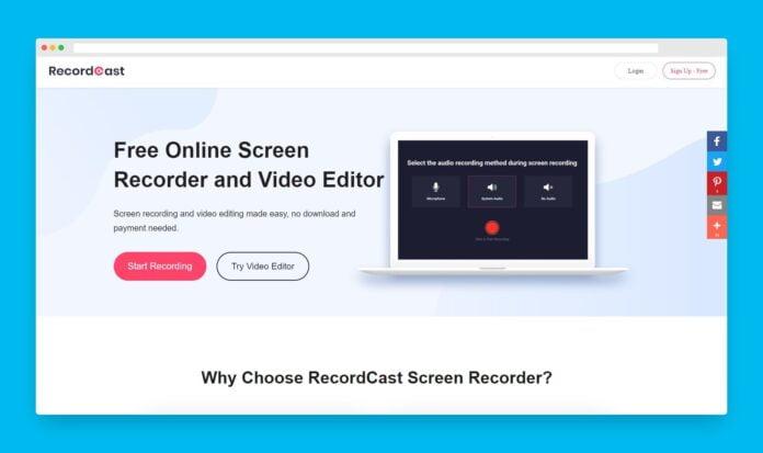 recordcast enregistrement ecran