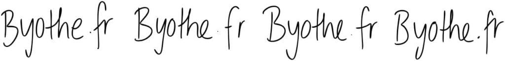 calligrapher byothe