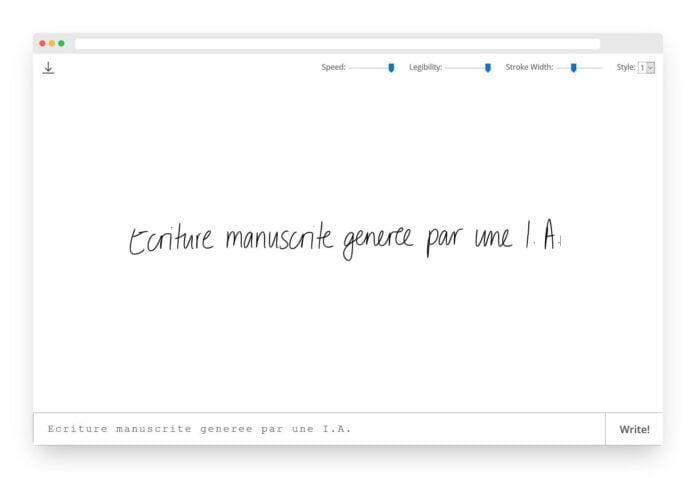 calligrapher ecriture manuscrite intelligence artificielle