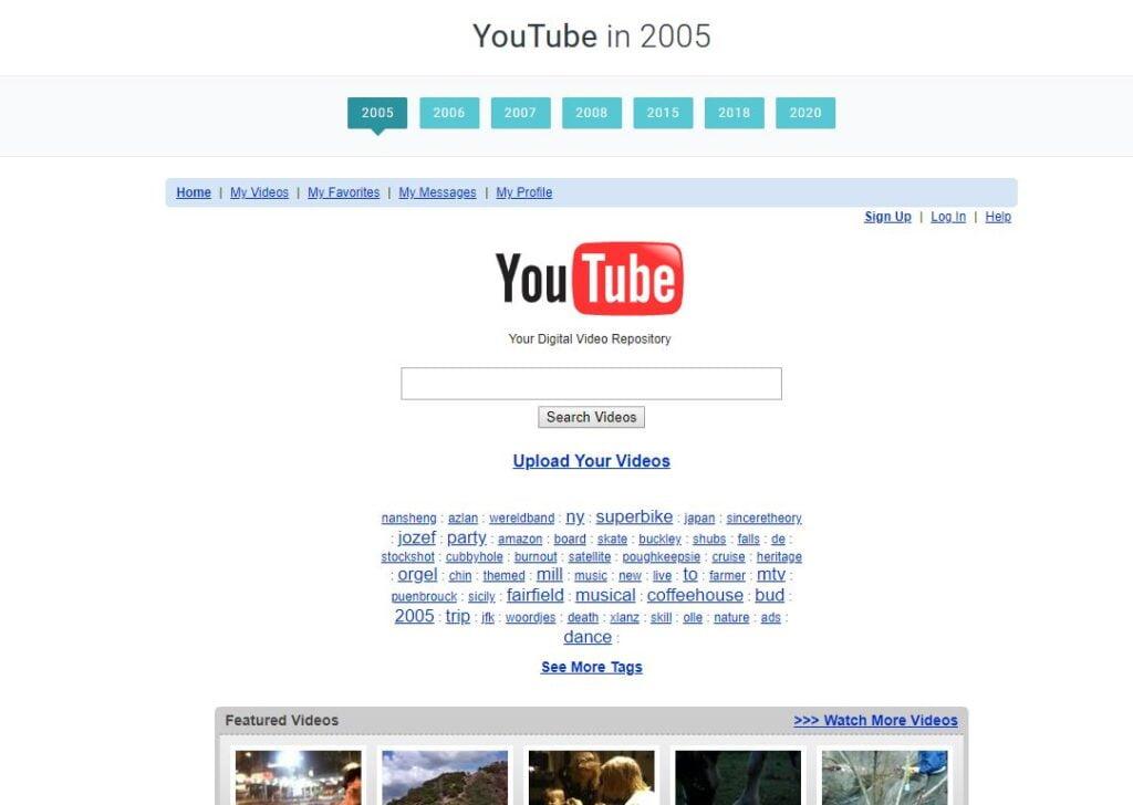 web design museum timeline