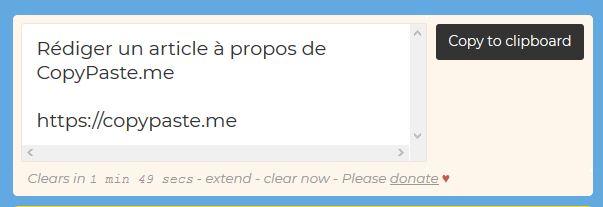 copypaste texte