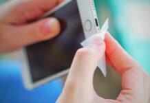 nettoyage smartphone
