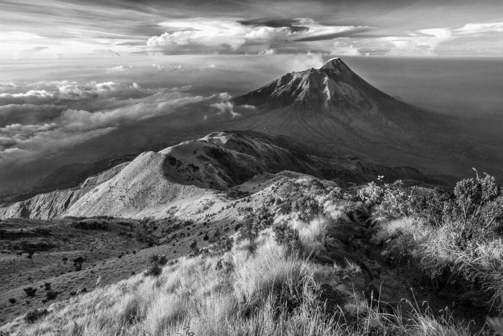 paysage colorize noir blanc