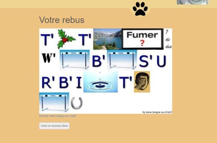 generateur rebus langue au chat