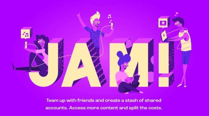 jam partage identifiants site