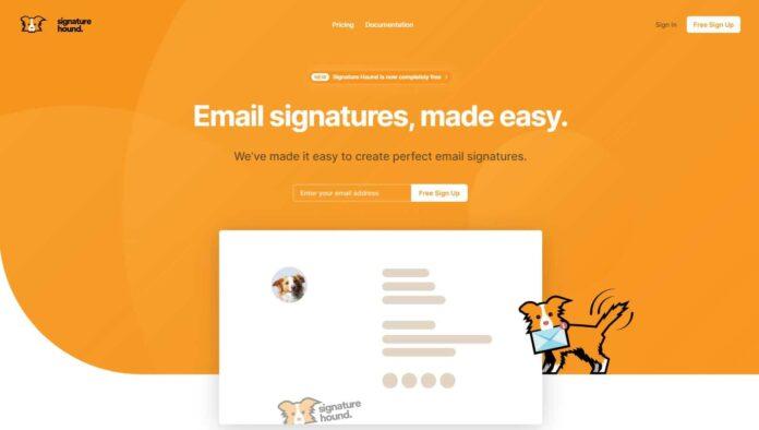 signature hound email