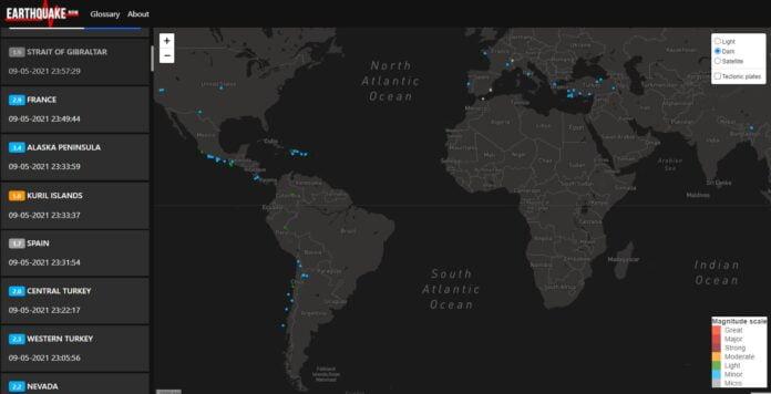 earthquake now carte secousses