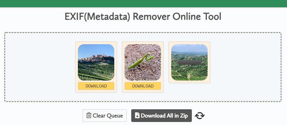 exif remover metadonnees