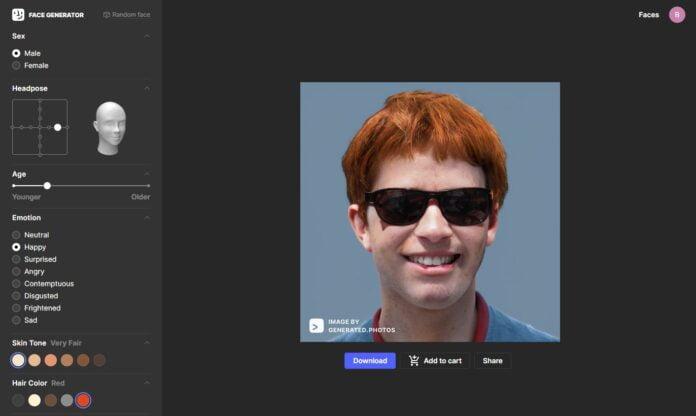 face generator generateur visage ia
