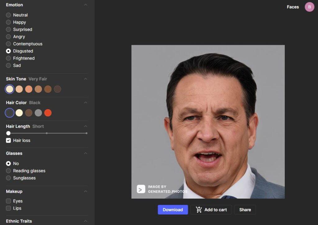 face generator generateur visage ia vieux