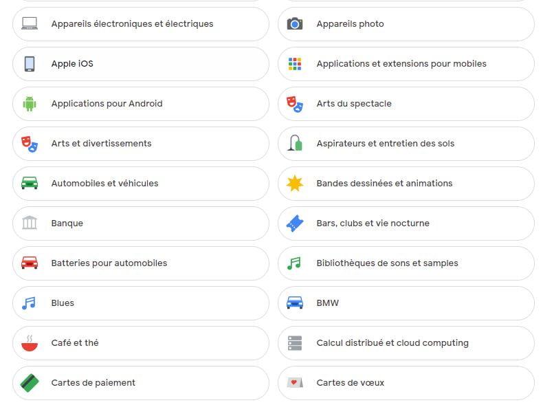 google facteurs personnalisation