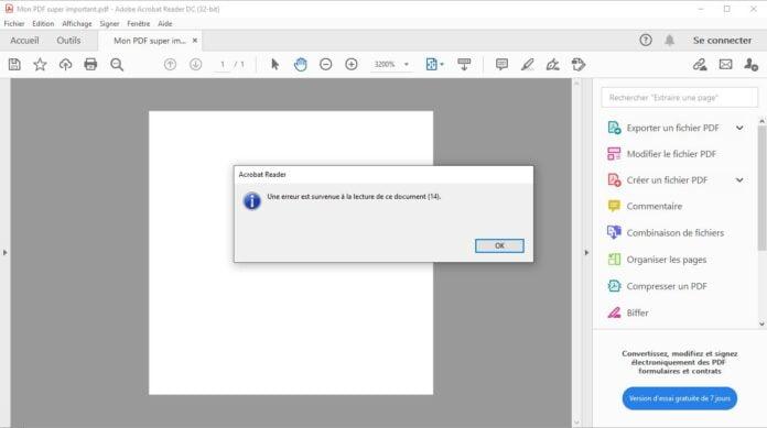 pdf fixer pdf corrompu