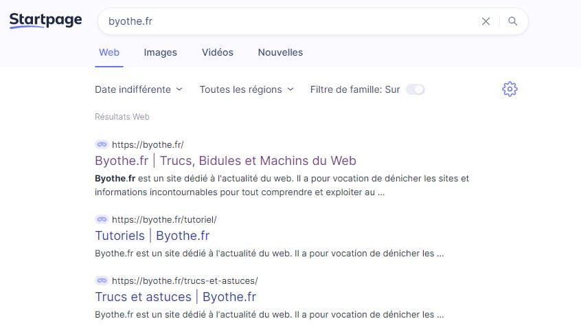 moteur recherche startpage