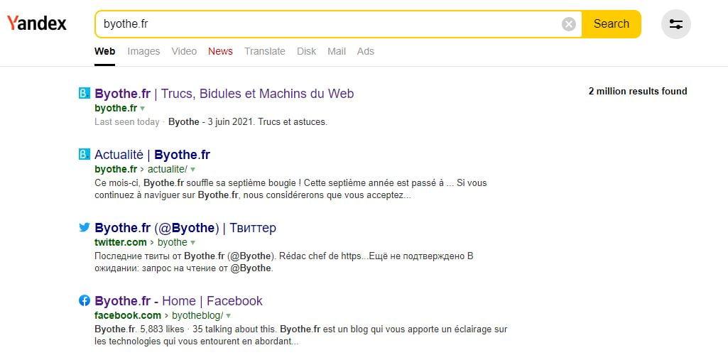 moteur recherche yandex