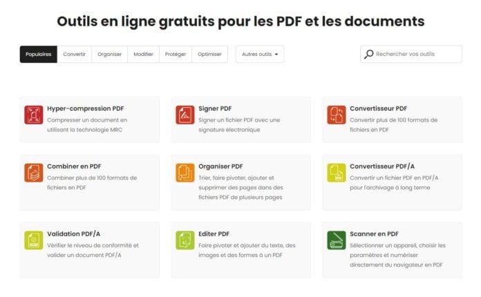 avepdf outils pdf