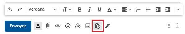 mode confidentiel gmail bouton