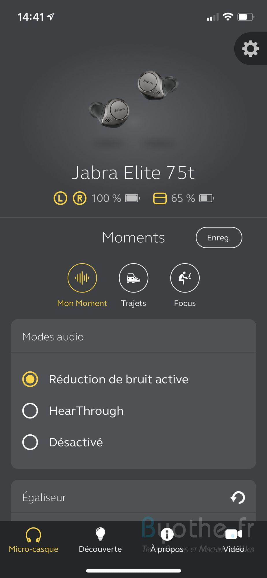 jabra elite 75t application 2