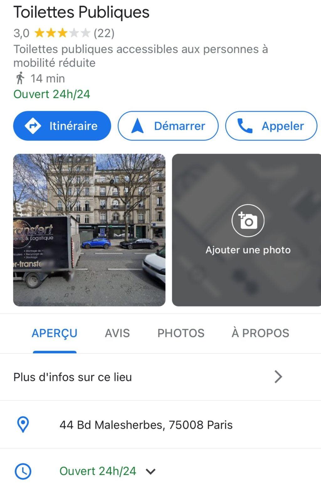 google maps toilettes publiques 1