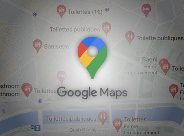 google maps toilettes publiques